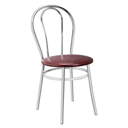 Konyhai/nappali szék 88x40x48cm Bistro krómozott acél + sötétbarna műbőr