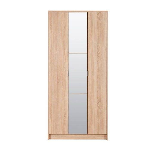 Előszoba szekrény 88,5x33x191,5cm Kapri Sonoma 2C