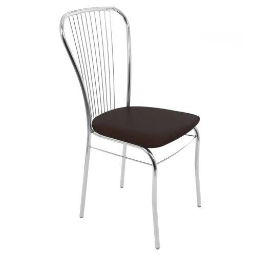 Konyhai/nappali szék 93x45x48cm Arco krómozott fém + wenge műbőr