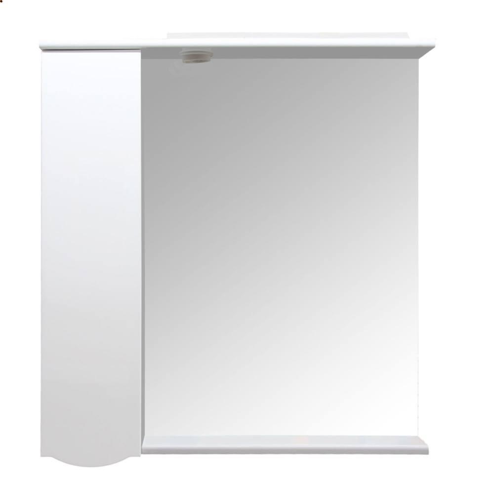 Fürdőszoba szekrény tükörrel és világítással, Balos, Arthema Venus SX131 fehér, 81x15,5x87 cm