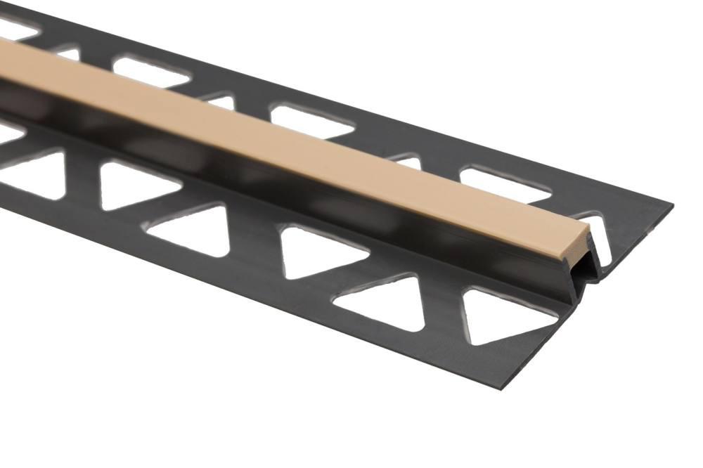 PVC tágulási profil csempéhez, bézs, 10 mm, 2,5 m